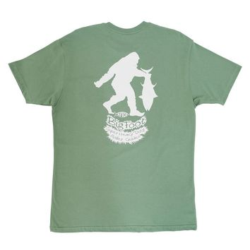 Bigfoot Tee Shirt in Drab Olive by AFTCO