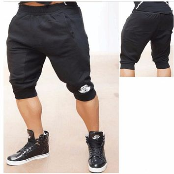 2016 Fashion  Cotton Muscle Fitness Shorts Boys Slim Thin Section Men's Short Street Wear Clothing