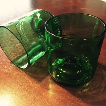 Set of 2 Rocks Glasses made from Reclaimed Jameson Irish Whiskey Bottles