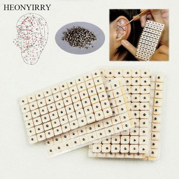 600 Pcs/lot Ears Stickers Acupuncture Needle Ear Vaccaria Seeds Ear Massage Care Auricular-paster Press Seeds Nose Ear Trimmer