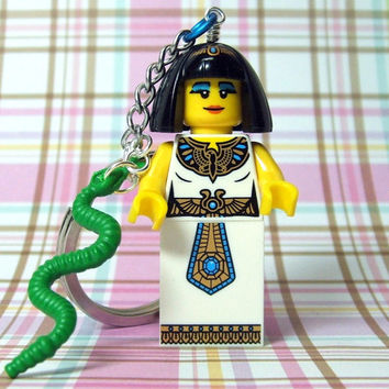Egyptian Queen Keychain - made from Series 4 LEGO (r) Minifigure