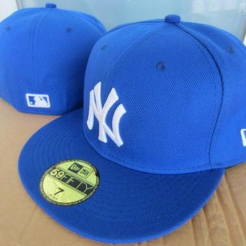 ESBON New York Yankees New Era MLB Authentic Collection 59FIFTY Cap Blue-White