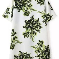 Ethereal Floral Shift Dress