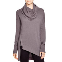 Love Scarlett Womens Asymmetrical Cowl Neck Pullover Sweater