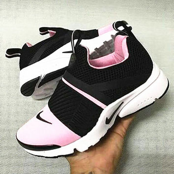 NIKE contrast Trending Fashion Casual Sports Shoes Pink-white soles