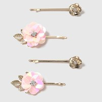 Sequin Flower Clip Pack - New In