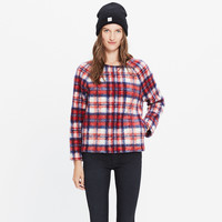 Brushed Plaid Pullover Top