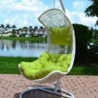 Amazon.com: Clove - Balance Curve Porch Swing Chair - Model - Y9091WT: Home & Kitchen