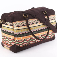 Large Tapestry Weekender Bag, Holiday Bag, Holdall Bag, Vacation Bag, Mexican, Mayan, Aztec, Beach Bag,