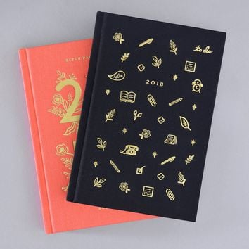 2018 Coral or Icon Hardcover Agenda