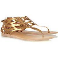 Ancient Greek Sandals | Medea metallic leather sandals | NET-A-PORTER.COM
