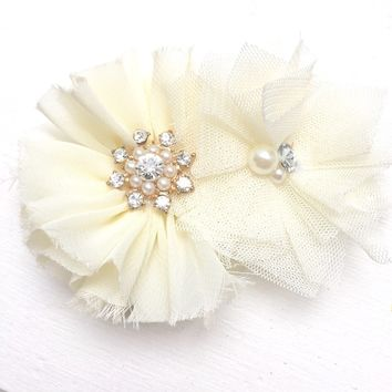 Ivory corsage wedding corsage