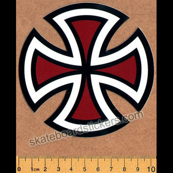 Independent Trucks Cut Cross Skate Sticker - Red