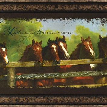 The Lord Has Horses 24x14 Framed Art