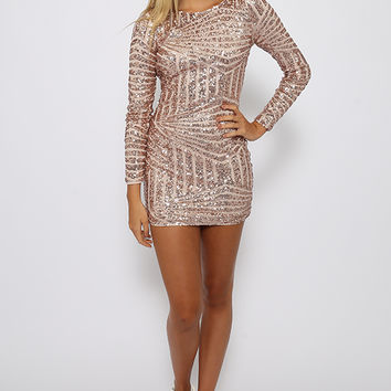 Bonny Lee Dress - Nude