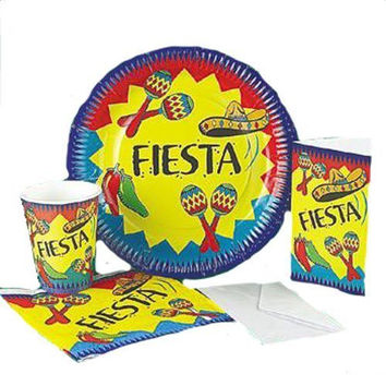 Fiesta Theme Plates Napkins Cups Party Kit
