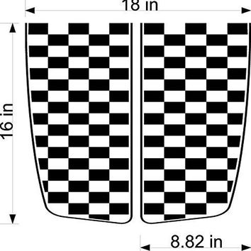 Checkered Flag Hood Auto Truck Dune Buggy Side by Side ATV Decals Stickers