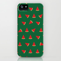 Sweet Watermelon Pictures Pattern iPhone & iPod Case by 1986