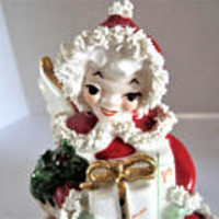 Napco Christmas Angel, Numbered Christmas Figurine, Spagetti Adorned,  Christmas Angel