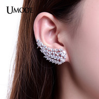 UMODE Design Popular Angel Wings Earrings Exaggerated CZ Stud Earrings For Women Aretes Brinco UE0215