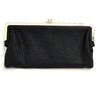Penelope Vegan Leather Wallet In Black