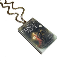 The Princess Bride Necklace, Miniature Book Necklace, Buttercup and Farmboy, Inigo Montoya Jewelry, 'As you wish' Necklace, Gift for Readers