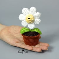 Flower in the pot, mothers day gift, gift for mom, girlfriend gift, love gift, crochet flower, potted flower