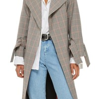 Topshop Check Wrap Trench Coat | Nordstrom