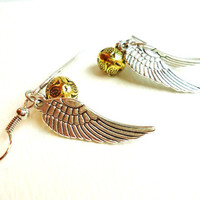 Harry Potter Golden Snitch Earrings, Steampunk Keepsake