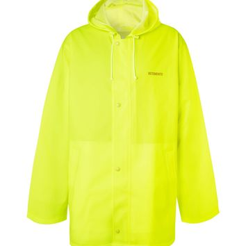Yellow Neon PVC Raincoat by Vetements