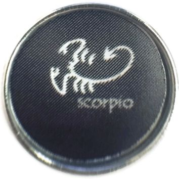 Scorpio Cool Scorpion Zodiac Sign Horoscope Symbol 18MM - 20MM Charm for Snap Jewelry New Item