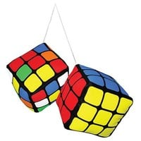 Rubik's Cube Plush Danglers - Toy Vault - Rubiks Cube - Car Accessories at Entertainment Earth