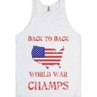 World War Champs-Unisex White Tank