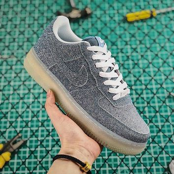New Nike Air Force 1 AF1 Low Blue With Crystal Glint - Best Online Sale