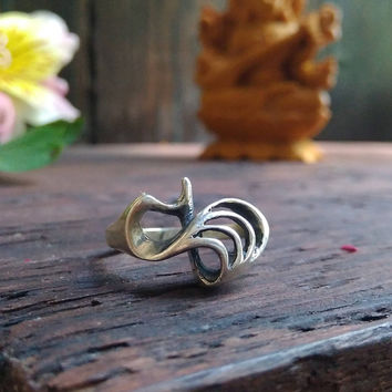 Flow Silver Ring,Handcrafted Ring,Personalized gift For Her,Ocean Inspired RIng,Wave Ring,Personalized ring,Nature ring