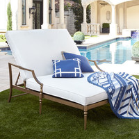 Sophia Outdoor Double Chaise & Pedestal Table