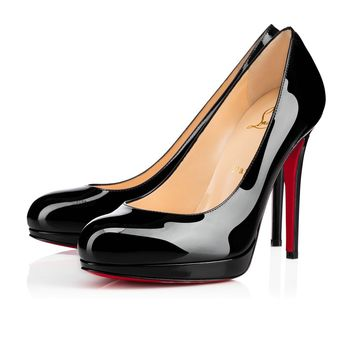 Best Online Sale Christian Louboutin Cl New Simple Pump Black Patent Leather 120mm Stiletto Heel Classic