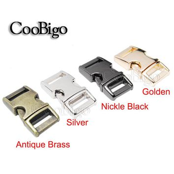 "1pcs Metal Hardware 3/8"" Side Release Buckle Parachute 550 Paracord Bracelet Dog Cat Collar Webbing 10.8mm Outdoor Bag Parts"