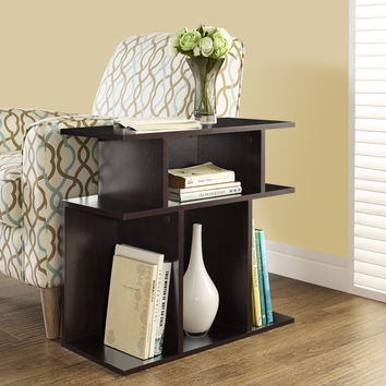 """Accent Side Table   Cappuccino 24""""H"""