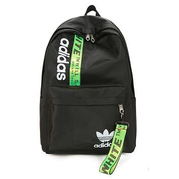 Adidas X Off White Women Men Fashion Leather Shoulder Bag Handbag Backpack
