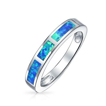 Pink Blue Created Opal Inlay Pave Solitaire Ring 925 Sterling Silver