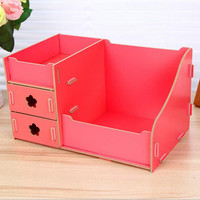 Jewelry Wooden Storage Box Cosmetic Necklace Divider Closet Container Organizer