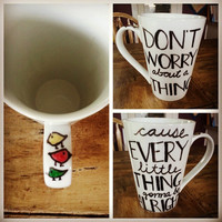 Custom Coffee Mug. Bob Marley 3 Little Birds. by LoveItGetItGotIt