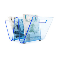 The Wave Magazine Rack - Blue