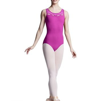 Keyhole Neck Open Back Tank Leotard L8985 by Bloch