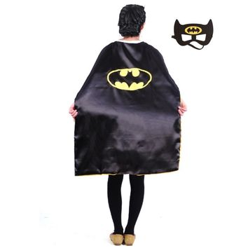 Batman Dark Knight gift Christmas Teens superhero cape L110*W70 cm double sides character batman capes good Halloween performance party pretend cosplay costumes AT_71_6