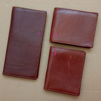 handmade retro vintage leather wallet card hold gift 17
