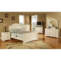 Elements Brook White Collection 5 Piece Bedroom Set