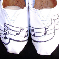 The Musician - Black and White Custom TOMS