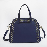 Hot Kate Spade Women Big Shopping Leather Tote Handbag Shoulder Bag Color Navy